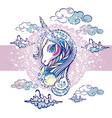 beautiful unicorn head vector image vector image