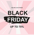 black friday sale web banner design template vector image vector image