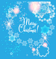 blue snow card vector image