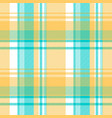 blue yellow light color check tablecloth seamless vector image