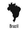 brazil map in black simple vector image