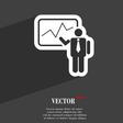 businessman making report icon symbol Flat modern vector image