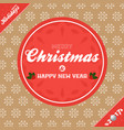 christmas banner background brown and red vector image vector image
