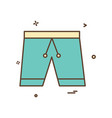 cloth pent trouser underwear icon design vector image