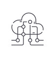 cloud information technology line icon concept vector image vector image