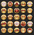 collection of golden retro vintage badges 02 vector image vector image