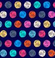 Color seamless grunge polka dots pattern vector image vector image