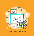 concept of shopping discount system sale vector image vector image