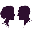 couple profile vector image vector image