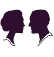 Couple profile vector image