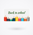 Creative template with color pencil banner can be vector image vector image