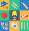 Cricket game concept vector image