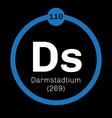 Darmstadtium chemical element vector image vector image