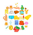 debt icons set cartoon style vector image vector image