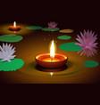 diwali festive at river in india vector image vector image