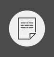 document icon sign symbol vector image