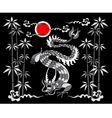 dragon on a black background vector image vector image