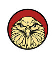 eagle in red circle flat for vector image