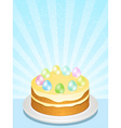 Easter cake vector image vector image