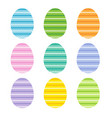 easter eggs with zig zag stripes vector image