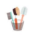 eco friendly zero waste bristle brush washing vector image vector image