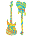 Electric guitar design vector image vector image