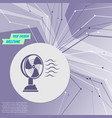 fan icon on purple abstract modern background the vector image vector image