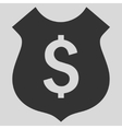 Financial Shield Flat Icon vector image vector image