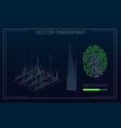 fingerprint scanning identification system in vector image vector image