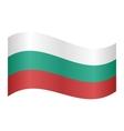 Flag of Bulgaria waving vector image vector image