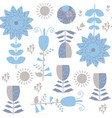 floral blue seamless pattern it is located in vector image vector image