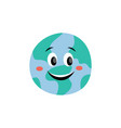 fun and cute planet solar system earth with vector image vector image