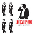 gentleman in silhouette symbol vector image vector image