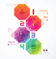 Geometric colorful Modern Design vector image vector image