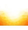 geometric yellow texture background vector image vector image