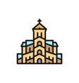 georgian orthodox church tbilisi flat vector image vector image