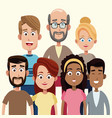 group people members family vector image vector image