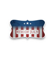 happy 4th of july - independence day banner vector image vector image