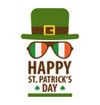 happy saint patricks day greetings symbol vector image