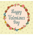 Happy Valentines day card Hand lettering vector image vector image