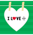 I love football9 vector image