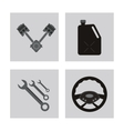 icon set over frames Auto part design vector image vector image