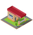 isometric guardhouse vector image