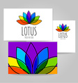 lotus meditation logo sign vector image