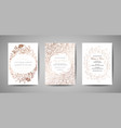 luxury wedding save the date invitation cards vector image vector image