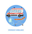 medical emergency ambulance concept vector image