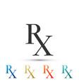 medicine symbol rx prescription icon isolated vector image