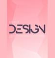 minimalist gradient geometric cover design vector image vector image