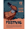 Music poster template for rock concert Pav is vector image vector image