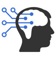 neural interface circuit icon vector image